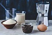 Zutaten für Dalgona Coffee
