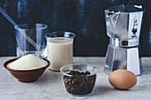 Ingredients for Dalgona Coffee