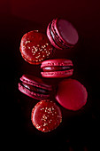 Lots of red macaroons
