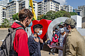Young people in Caracas, Venezuela, during Covid-19 outbreak