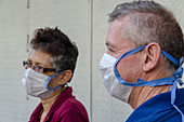 People wearing facemasks during Covid-19 outbreak