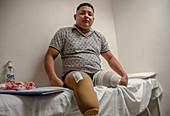 Colombian land mine victim