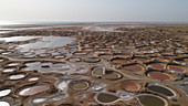Salt pans, aerial view