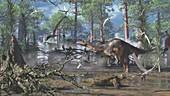 Plateosaurus dinosaur, illustration