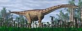 Futalognkosaurus dinosaur, illustration