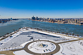 Belle Isle and Detroit River