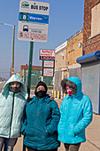 Women wearing face coverings during Covid-19 outbreak