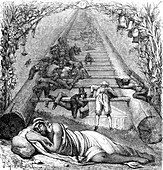 Jacob's ladder, illustration