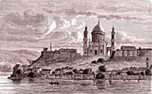 Esztergom, Hungary, 19th century illustration