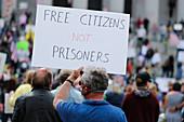 Anti-lockdown protest, Olympia, Washington, USA