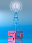 5G mobile network, illustration