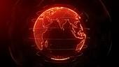 Global network, conceptual illustration
