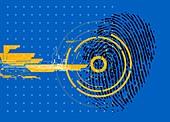 Digital fingerprint, illustration