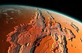 Valles Marineris, Mars, illustration