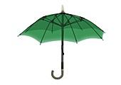 Open green umbrella, X-ray
