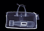 Holdall with bomb, X-ray
