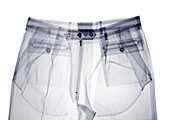 Top half of trousers, X-ray