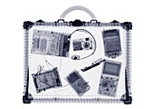 Briefcase and IT accessories, X-ray