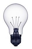 Light bulb screw-in fitting, X-ray