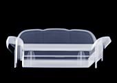 Doll's house sofa, X-ray