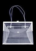 Metal clasp handbag, X-ray