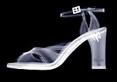 High heeled shoe, X-ray