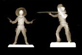 Plastic cowboy figures, X-ray