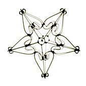 Star shaped ornament, X-ray