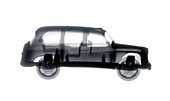 Toy London taxi, X-ray