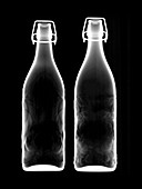 Two bottles of beer, X-ray