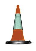 Traffic cone, X-ray