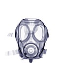 Gas mask, X-ray