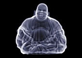 Statue of laughing Buddha, X-ray