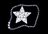 Bracelet and star brooch, X-ray