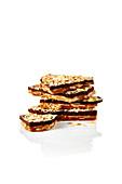 Chocolate almond crisp