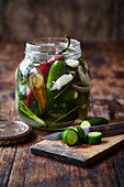 Home style cucumber pickles