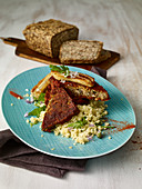 Seeded nut loaf with bananas and millet