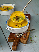 Sweet potato and harissa soup