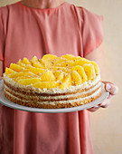 Brittle orange buttercream cake