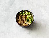 Vegan aubergine 'caviar'