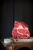 Raw French Cote De Boeuf from Charolais beef