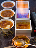Crema catalana being flambéed