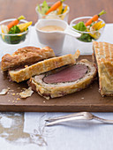 Venison fillet Wellington