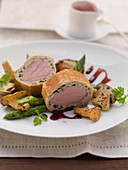 Veal fillet in a bread crust