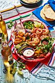Mexican quesadilla platter