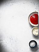 Ketchup, Meersalz und Sauerrahm