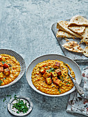 Coconut dal with crispy paneer