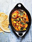 Easy prawn curry