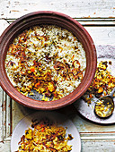Vegetable paneer dum biryani