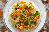 Creative carrot and cucumber salad